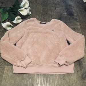 Abercrombie & Fitch Dusty Pink Sherpa Pullover
